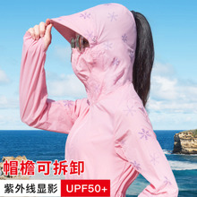 Sunscreen girl 2018 summer new anti UV Korean version of long thin section outdoor cycling sunscreen coat