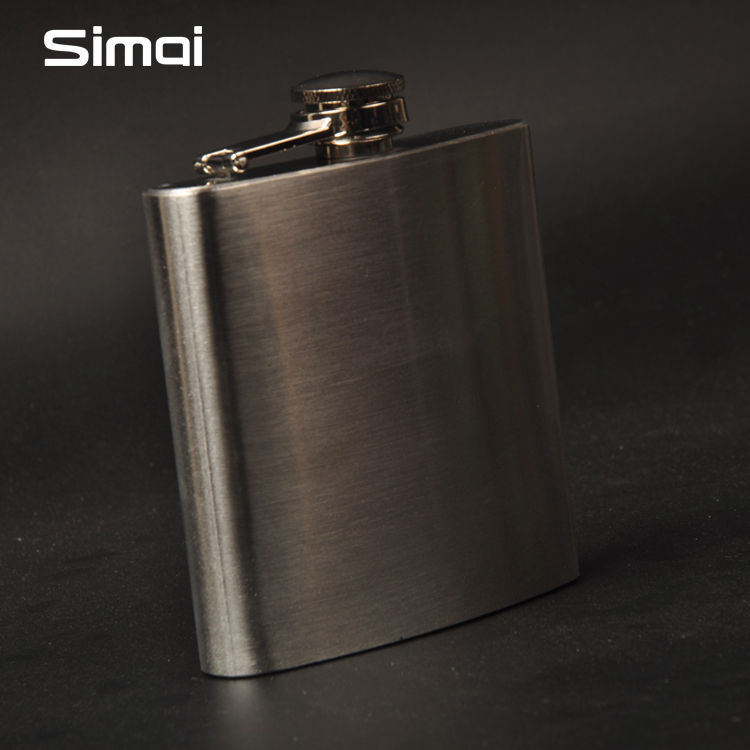 Genuine Simai 304 stainless steel 6 Ounce portable small wine wine bottle white man portable outdoor