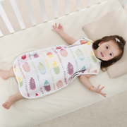Kick-proof four-layer gauze bag thin leg-vest fall air-conditioned cotton baby Pajamas baby designer belly