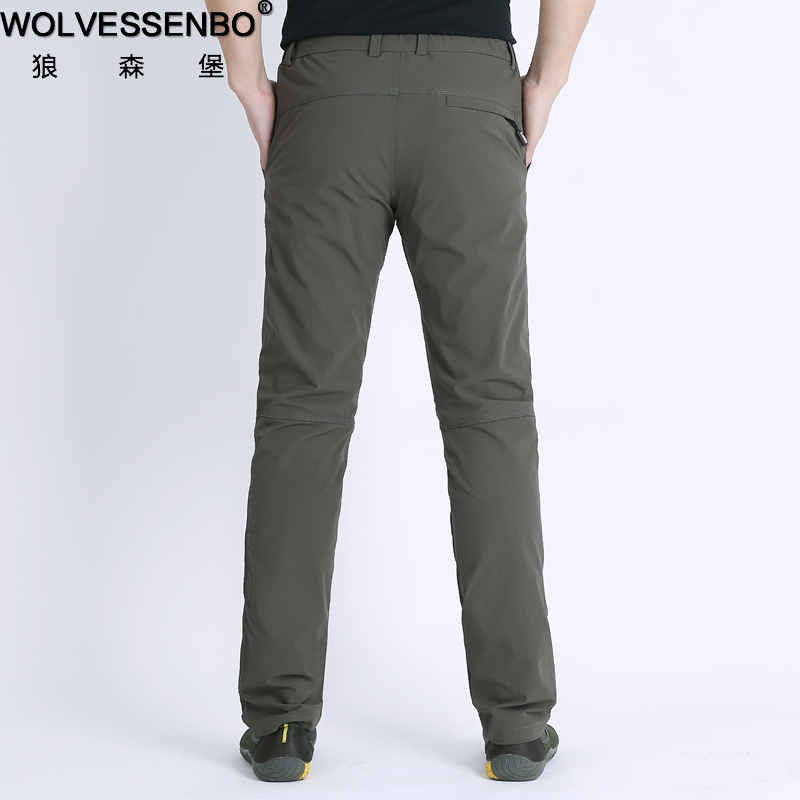 Summer outdoor quick-drying pants male slacks fertilizer plus-size thin elastic fat mountaineering leisure trousers
