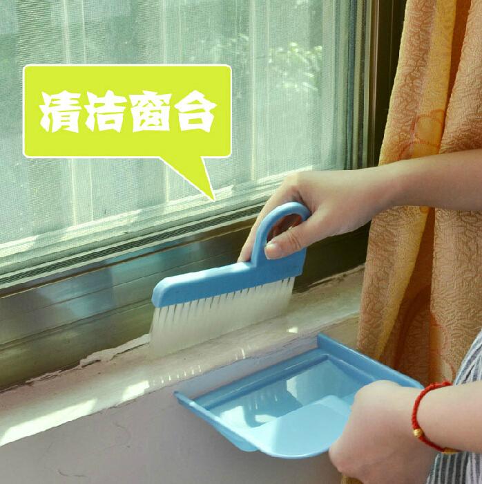 日本KM可爱桌面迷你小扫把簸箕套装清洁窗台电脑笔记本键盘灰尘刷