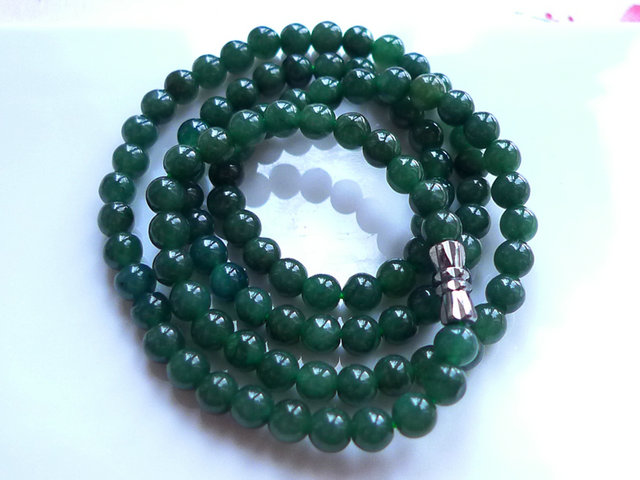 Mei xuan jade ~ 0728 is coming to an end one yuan or natural A jade green necklace