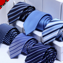 Tie men dress business marriage groom narrow dark blue red and black Korean students occupation 7cm security work