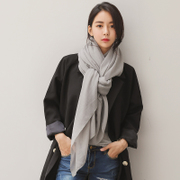Cotton scarf shawl collar female winter long all-match spring dual-purpose Korean student summer pure silk scarf