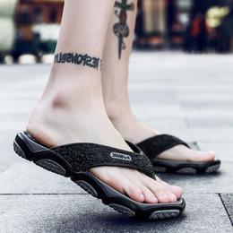 男士拖鞋潮室外穿人字拖潮拖男夏季韩版防滑夹拖夏天个性沙滩鞋男