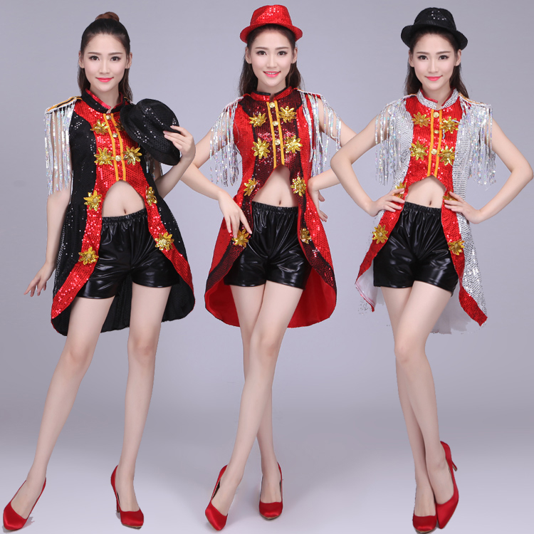 Jazz Dance Costume, student costume, adult Korean version, modern stage costume, new loose costume, sexy exercise suit