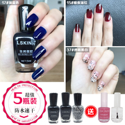Aunt red nail polish set lasting no discoloration non-toxic fast dry waterproof can not be stripped wine red nails