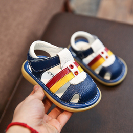 春夏季小宝宝鞋婴儿防滑软底学步鞋包头凉鞋0-1-3岁2男童儿童鞋女