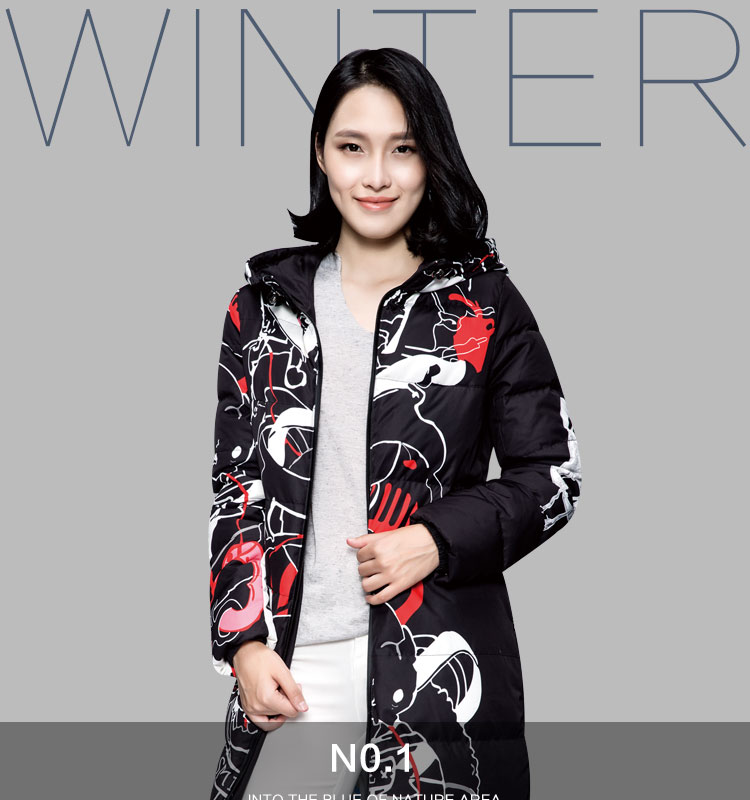 Network feather 2015 female knee long down jacket nine / half finished processing can be finished 1588 special offer