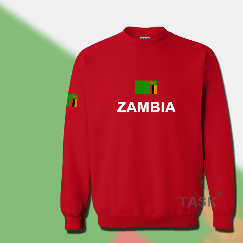 Zambia Zambia Football Jersey in spring and Autumn - male hoodies and fleece sports team