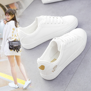 In the autumn of 2017 Korean students all-match white shoe designer shoes white shoes casual shoes children moving flat