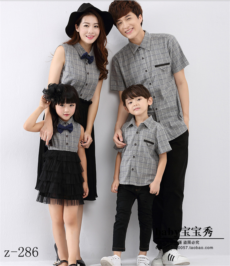 The new 2016 parent-child according to photography studio parent-child outfit a four family photography collection/studio photos suits