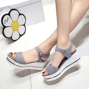 2017 new summer sandals female flat waterproof Taiwan students in Korea Korean Princess all-match retro minimalist shoes tide