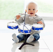 Clearance leakage testing 1 drum set drums percussion music baby educational toys for children three-drum combination