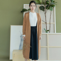 Chants NW3014 Joker long solid color Cardigan girls sweaters Cardigan coat quality simplicity