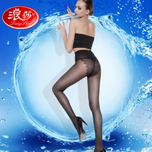 8 Double wave Sha pantyhose female pantyhose anti-hook summer thin section stealth ultra-thin dark flesh-colored socks spring and autumn