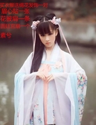 In small Xi costume Hanfu Tang concubines clothing Fairy Princess chest jacket skirt costume studio portrait photography