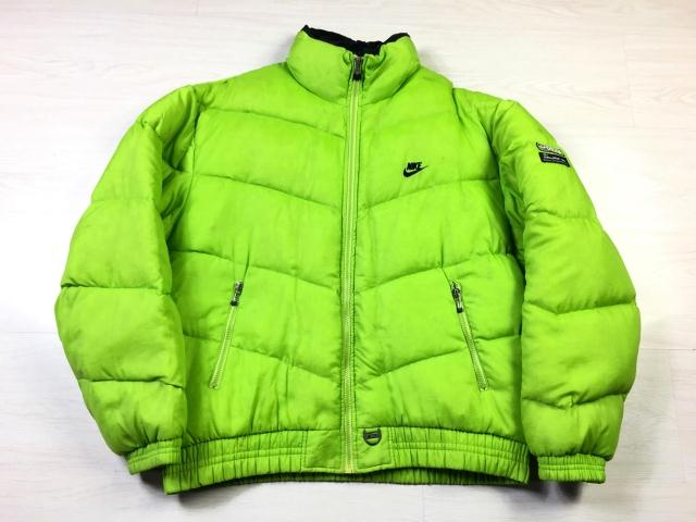 Extremely rare! Vintage old school hook Street Vintage fluorescent green down jacket coat coat