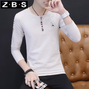 The fall of 2017 new male long sleeved t-shirt t-shirt Short Sleeve Shirt Mens Clothing on the trend of Korean's autumn clothes