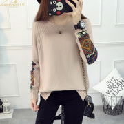 The fall of new Korean loose hair sweater sweater lady code patch female head all-match fashion shirt