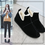 Junior high school life light boots shoes slip shoes female student boots female adult autumn winter sweet