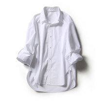 ^@^Yoshimi CY0224010 Fashionable high-grade cotton in the workplace Two collars styling white shirts