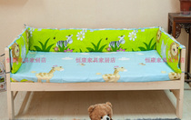 Children matching bedspread bed surrounding fence bed crib Rails cloth pillows sheets can be customized