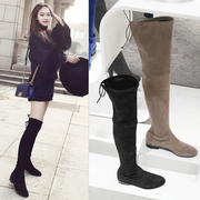 Thin elastic increased over the knee boots boots boots 2017 new winter children really tie thigh boots