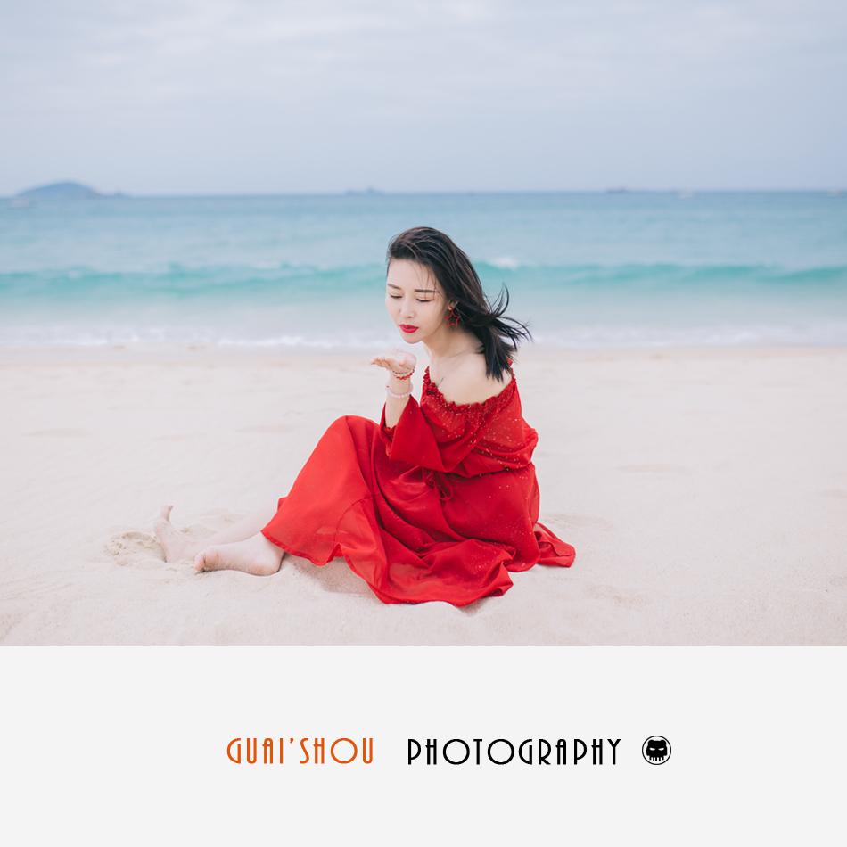 三亚个人写真情侣旅游跟拍约拍摄影师亚龙湾海棠湾艺术照怪兽旅拍