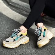 ins super fire shoes female students male retro winter street shooting running sneakers Grandpa Harajuku Dad shoes