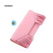 City of the United States and the United States and the United States and the new product of the latest fashion XIMISO rectangular tassel Wallet