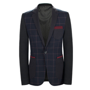 Special spring men's Plaid Suit Jacket Mens Casual stitching small suit men's clothing