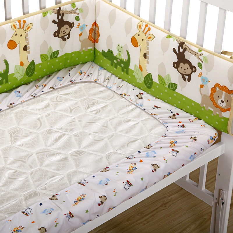 Shipping cotton cartoon baby bed bedspread quilt newborn child fitted sheets baby bedding custom