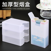 The new cigarette box cigarette pack 20 thick soft mounted portable smoke set creative sweat proof plastic cigarette case anti pressure