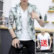 2017 summer new sleeve small suit male thin summer suit sunscreen clothing tide slim metrosexual man summer coat