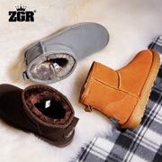 ZGR snow boots, female boots shoes in autumn and winter snow shoes a warm student short barrel plus velvet boots
