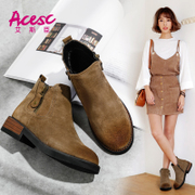 Esther Chen boots female Chelsea Martin boots boots in spring and autumn, 2017 new Korean all-match British style shoes
