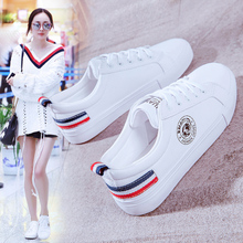white shoes female spring summer 2018 New wild Korean basic platform shoes flat shoes student casual white shoes