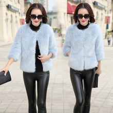 2017 new winter small authentic Korean fashion ladies temperament warm fur coat jacket Ms. Fang Chao
