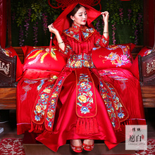 Show 2017 new Chinese dress suit Wo bride wedding wedding costume ancient dress show phoenix coronet and robes of rank Wo Wo