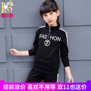 Girl's autumn outfit 13 girls 8 Girl 10 medium Child two set 9 Korean tide clothing 12 years old sports spring and autumn