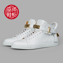 Italy Buscemi 100mm wizard calfskin leather shoes for men and women with high Flat lovers