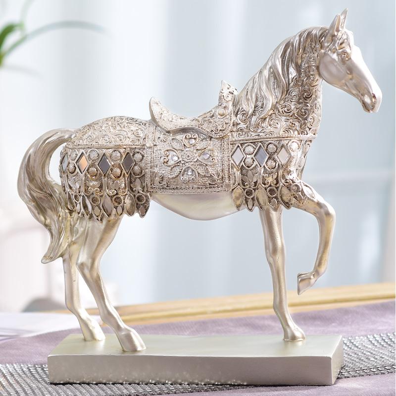 家居欧式酒柜装饰品卧室摆件马创意客厅房间室内小饰品摆设办公桌