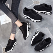 Korean version of the new autumn and winter increased sneakers female platform black plus velvet travel running casual shoes tide