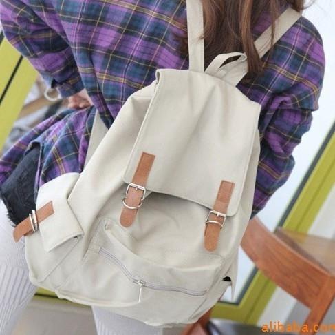新款韩版旅行包大容量休闲帆布包时尚双肩包背包学生书包男女通用
