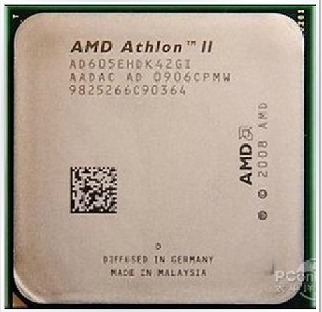 AMD Athlon II X4 600E 605e 615e 45-nanometer low power consumption 45W quad-core CPU
