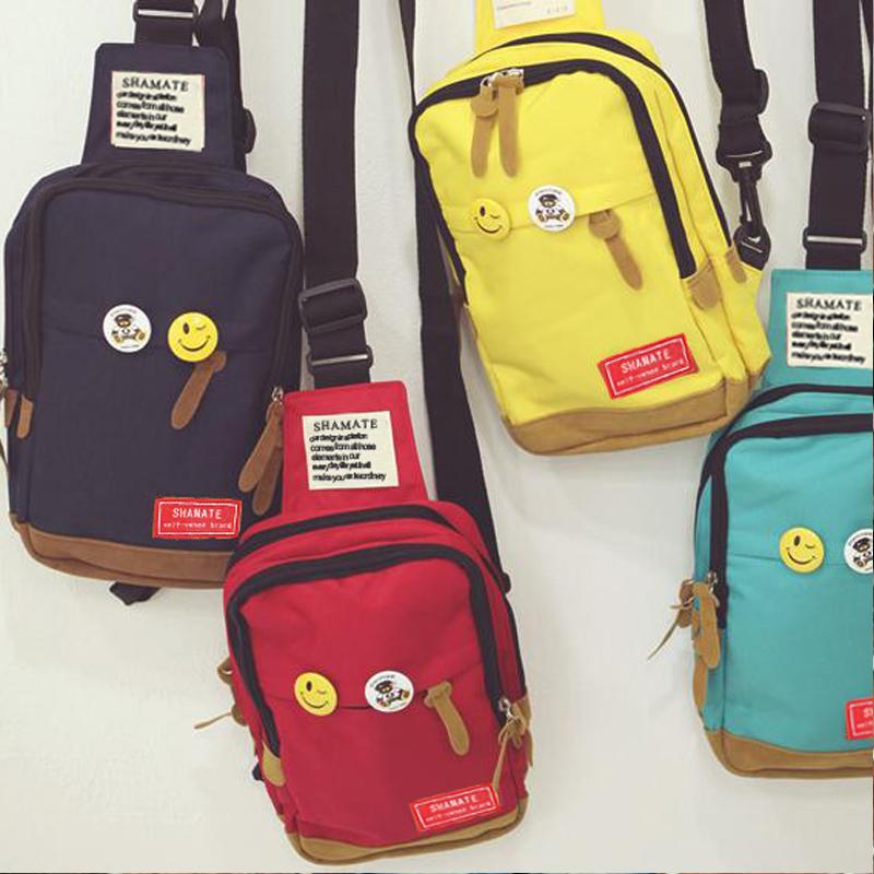 新款韩版情侣胸包实用小清新休闲单肩斜挎包学院风男女小包包