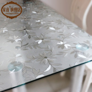 Table PVC waterproof and oil proof soft glass mat plastic disposable tablecloth table mats transparent frosted crystal plate