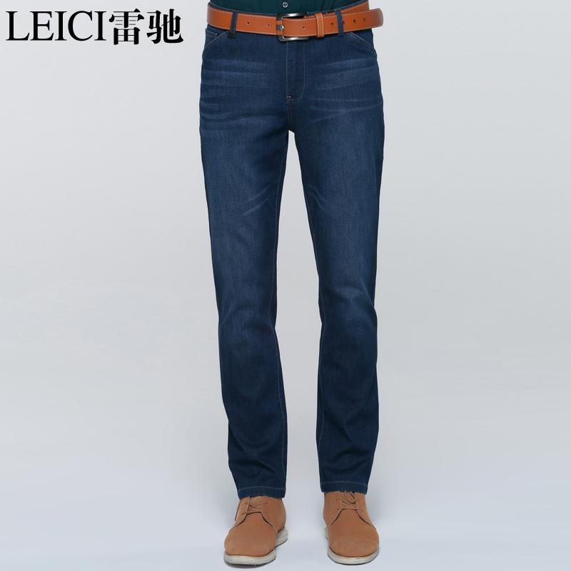 雷驰奢侈品男装 男士牛仔裤长绒棉 男中腰直筒潮牛仔裤 男1008