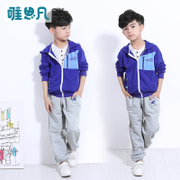 5-6 children 7-8-9 boys Spring Autumn casual cotton Big Boy regular male set 10 pupil boy